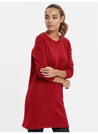 LC Waikiki Akrilik Triko Elbise Kırmızı
